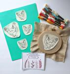 Embroidery Transfer Stickers - A Brood of Hens