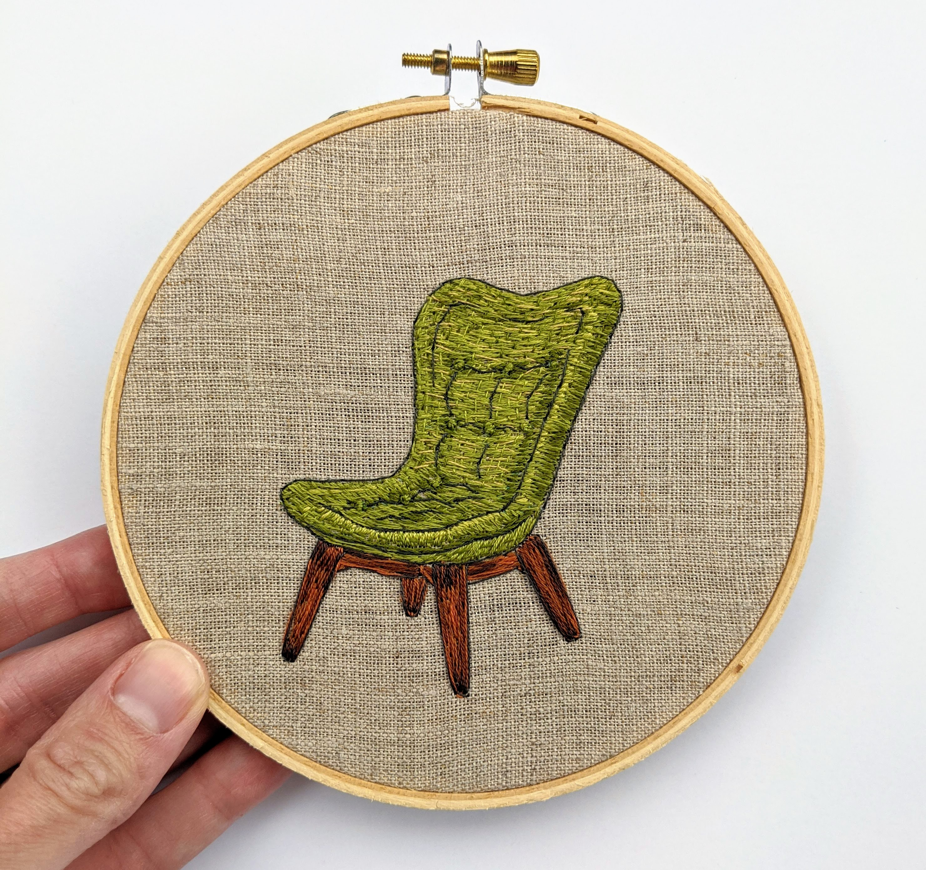 Green Contour Chair