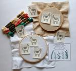 Embroidery Transfer Stickers - A Herd of Llamas